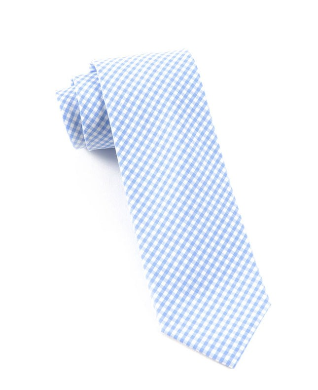 Petite Gingham Sky Tie