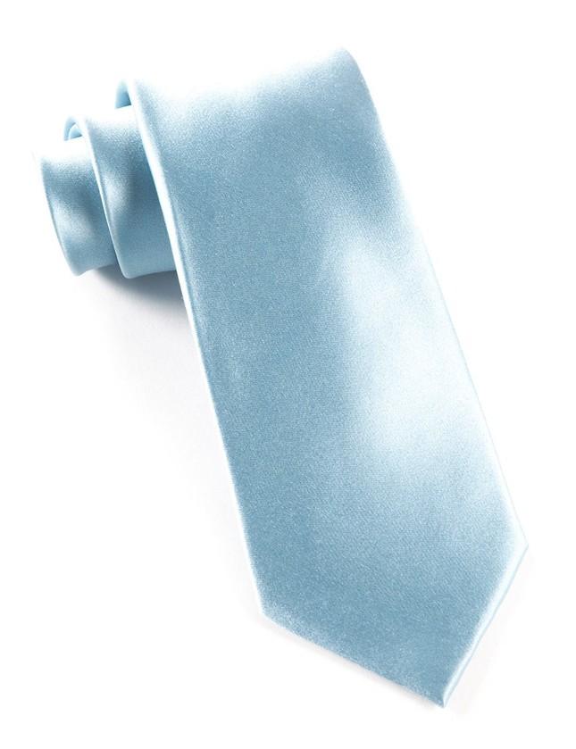 Solid Satin Baby Blue Tie