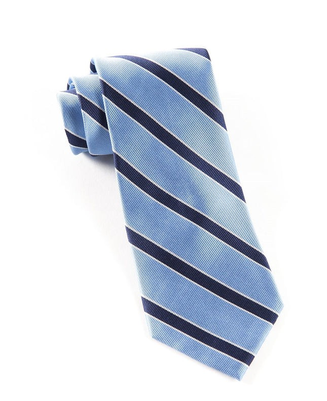 Honor Stripe Light Blue Tie