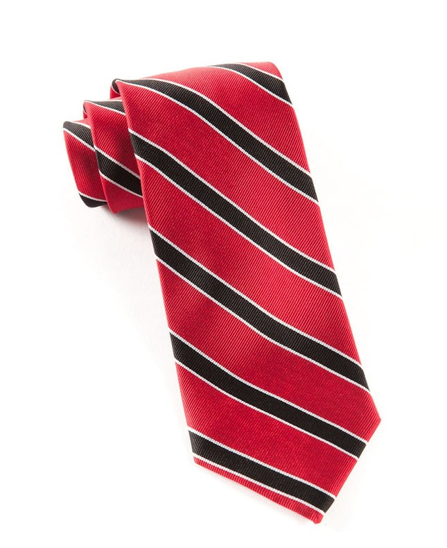 Honor Stripe Red Tie