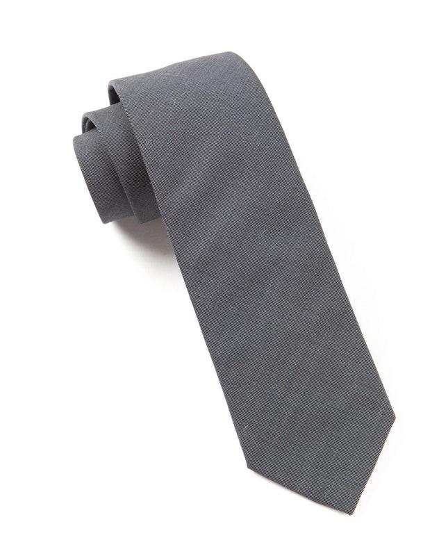 Solid Cotton Metallic Grey Tie