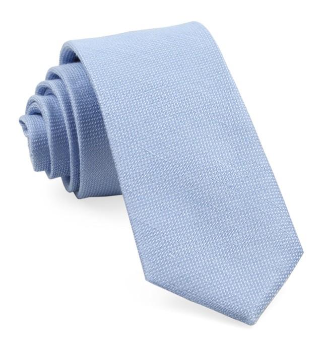 Solid Linen Sky Blue Tie
