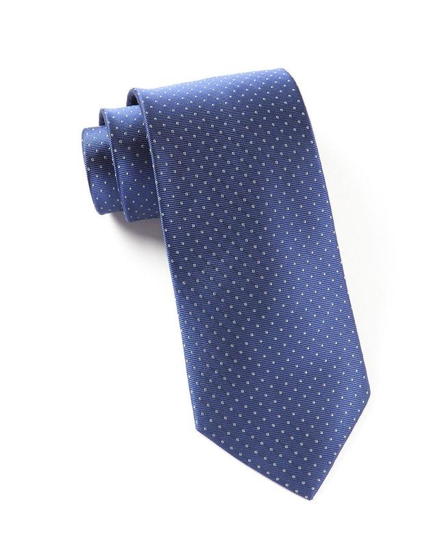 Mini Dots Blue Tie