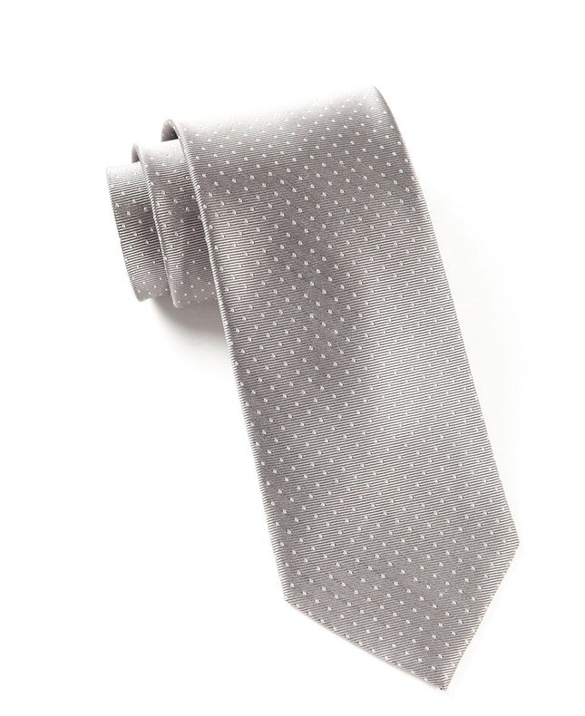 Mini Dots Silver Tie