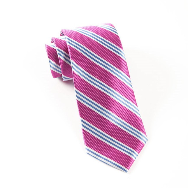 Bar Stripes Rose Tie