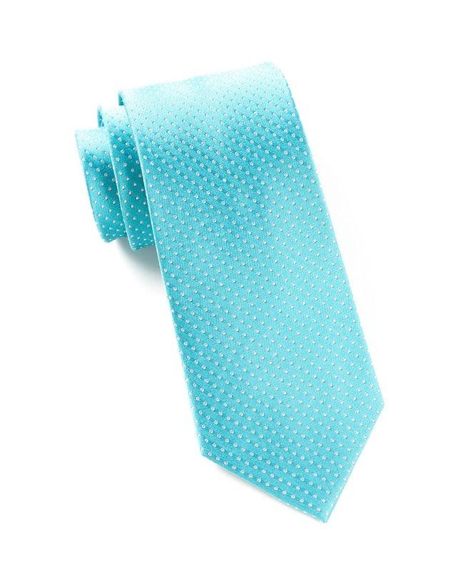 Pindot Turquoise Tie