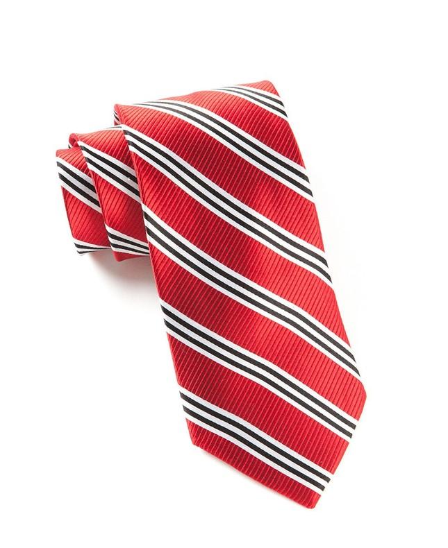 Bar Stripes Red Tie