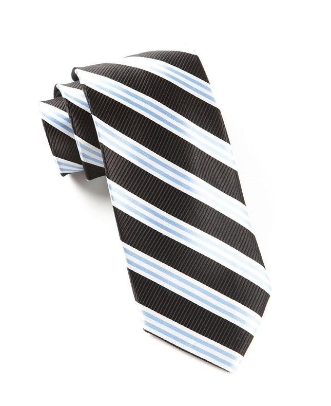 Bar Stripes Classic Black Tie