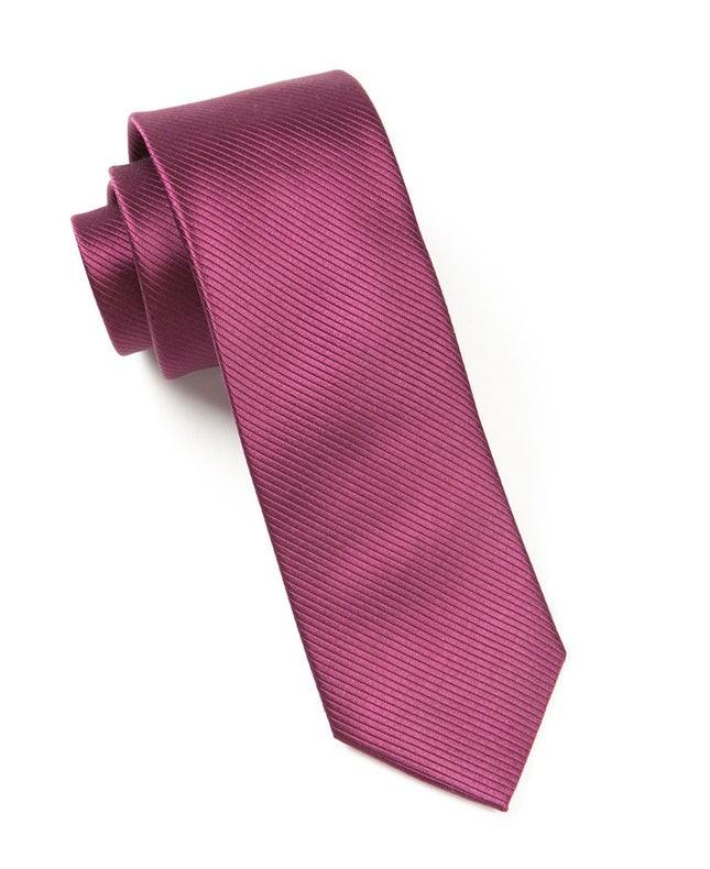 Skinny Solid Wine Tie