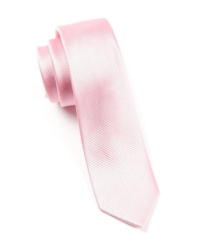Skinny Solid Baby Pink Tie