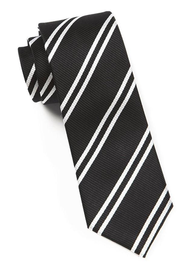 Double Stripe Black Tie