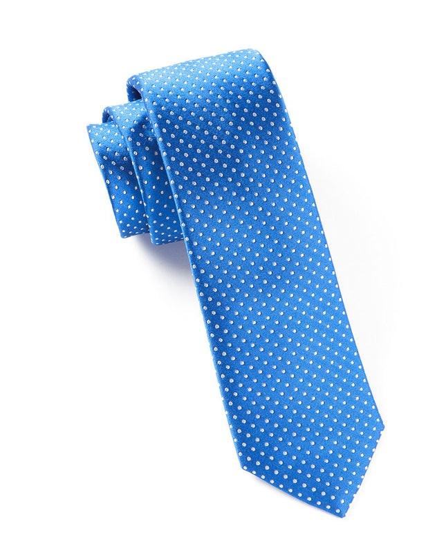 Pindot Royal Blue Tie