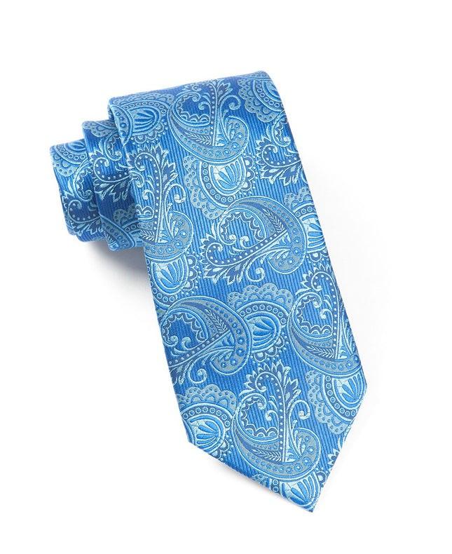 Twill Paisley Royal Blue Tie
