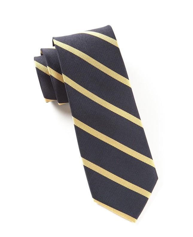 Trad Stripe Midnight Navy Tie