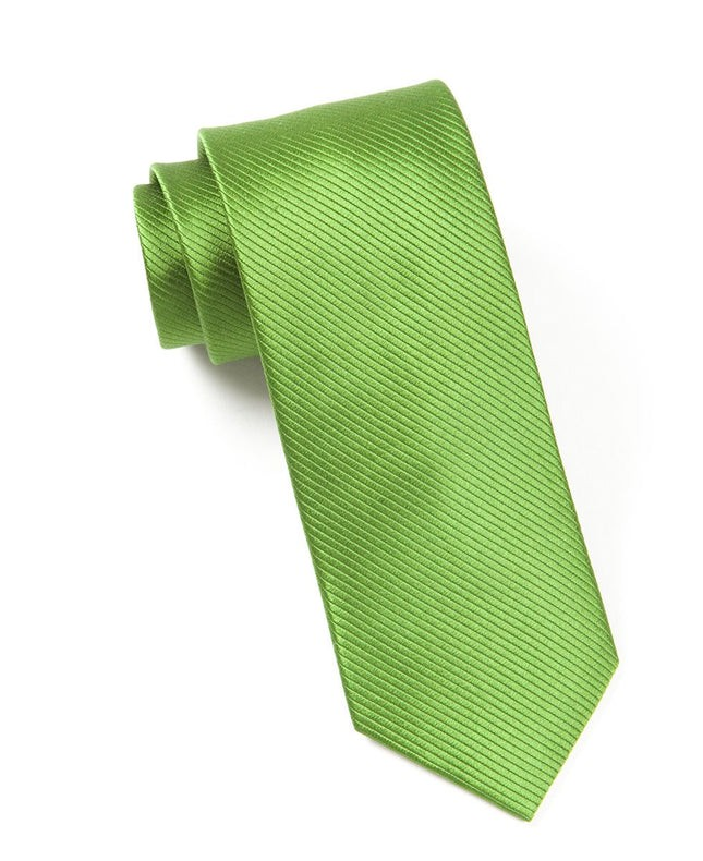 Skinny Solid Clover Green Tie