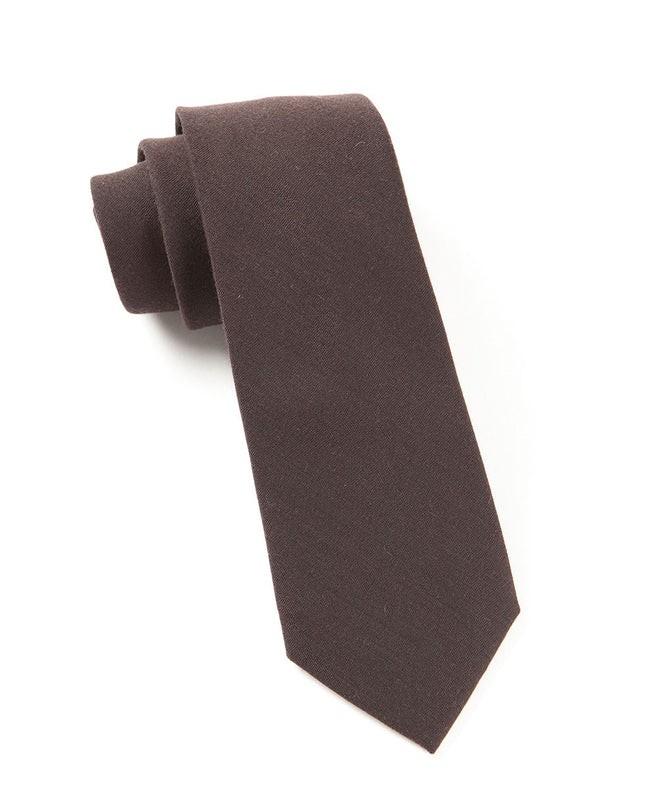 Solid Wool Chocolate Brown Tie