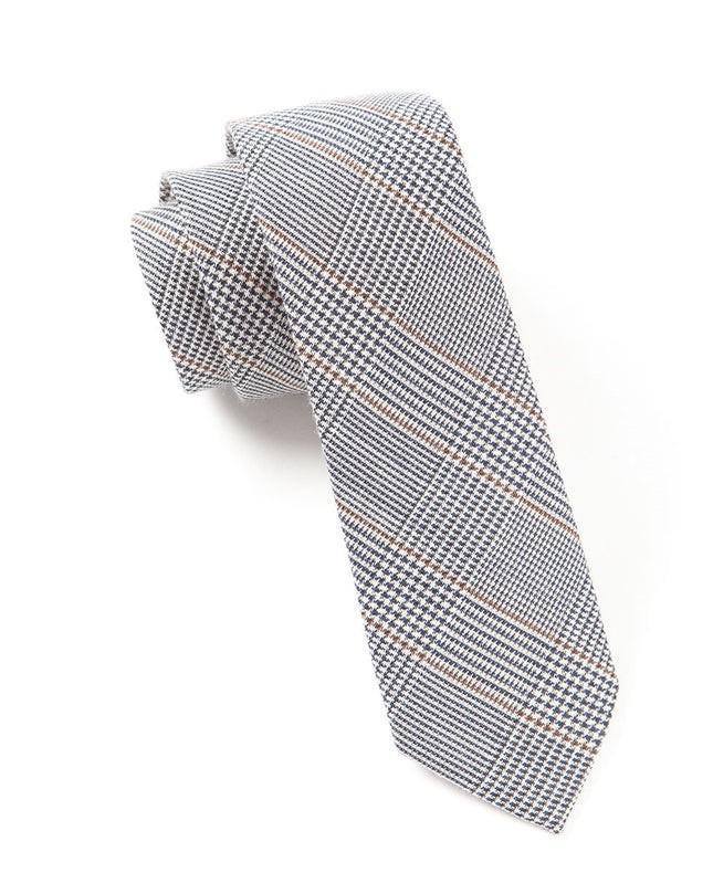 Glen H. Plaid Charcoal Tie