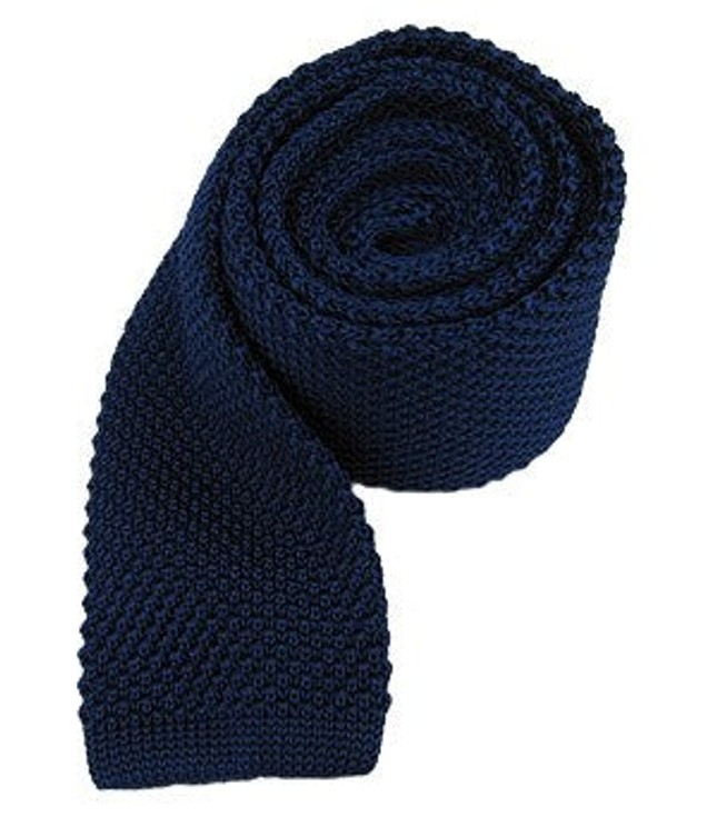 Knitted Blue Tie