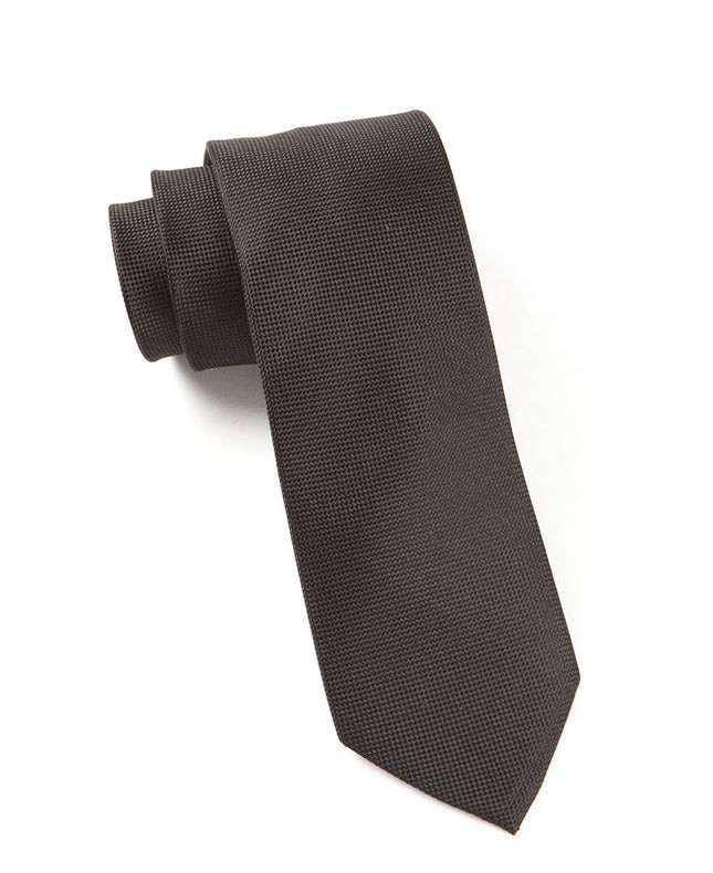 Solid Texture Black Tie