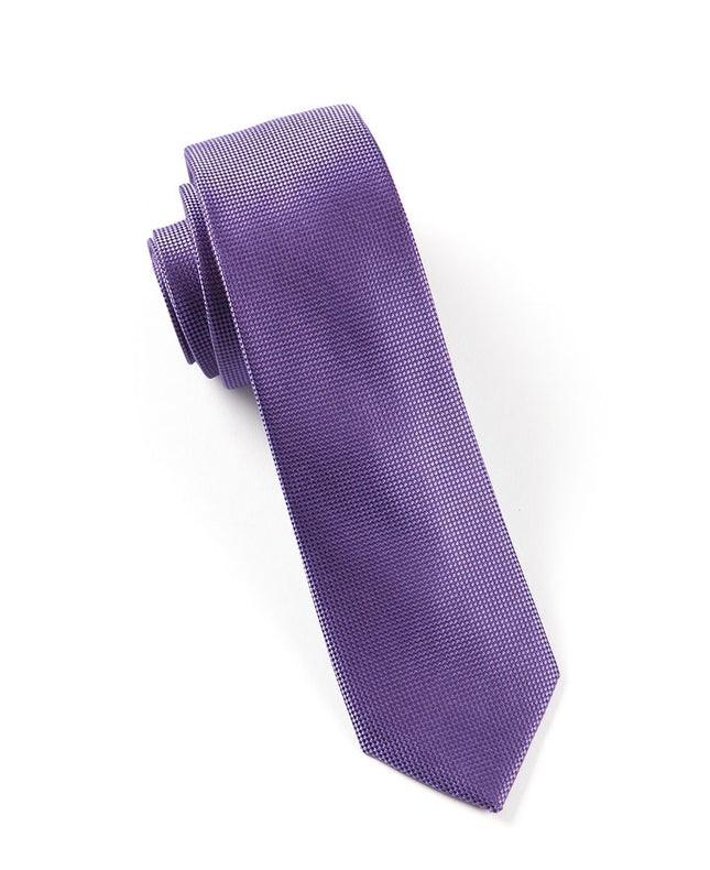 Solid Texture Violet Tie
