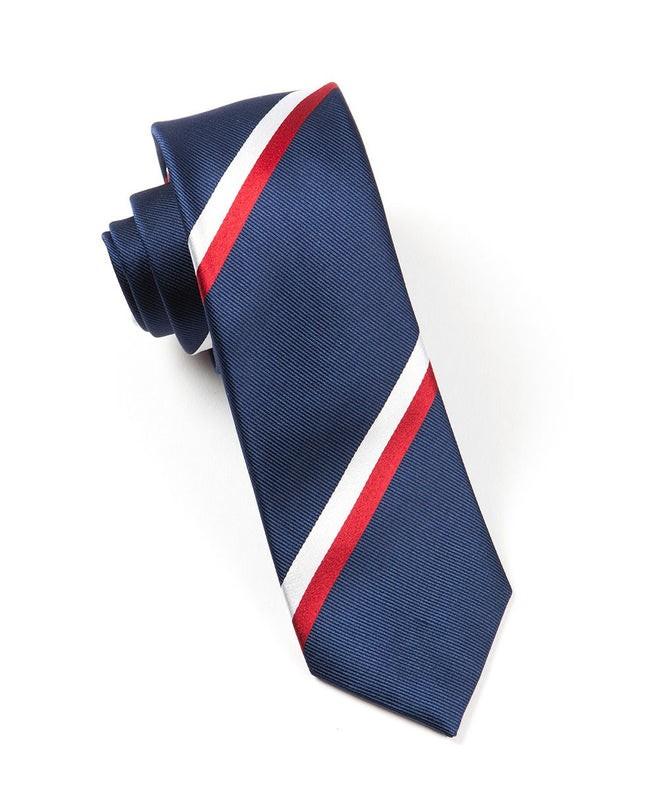 Ad Stripe Classic Navy Tie