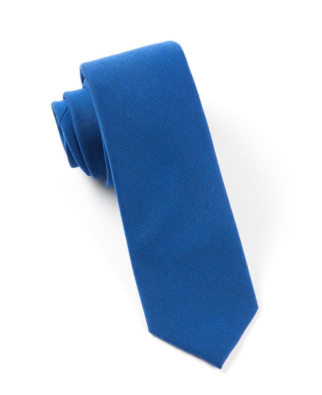 Solid Wool Royal Blue Tie