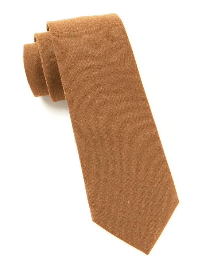 Solid Wool Bronze Tie