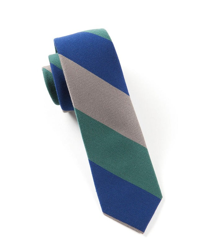 Big Wool Stripe Hunter Tie