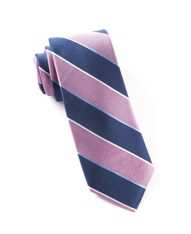 Boarding Stripe Pink Tie