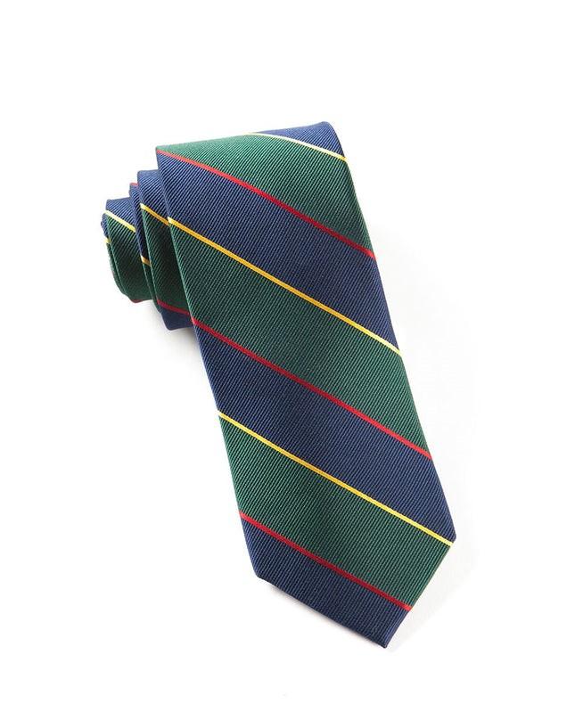 Boarding Stripe Navy Tie