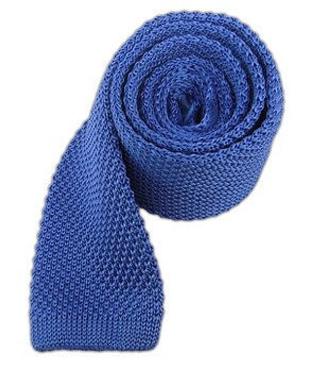 Knitted Light Cornflower Tie