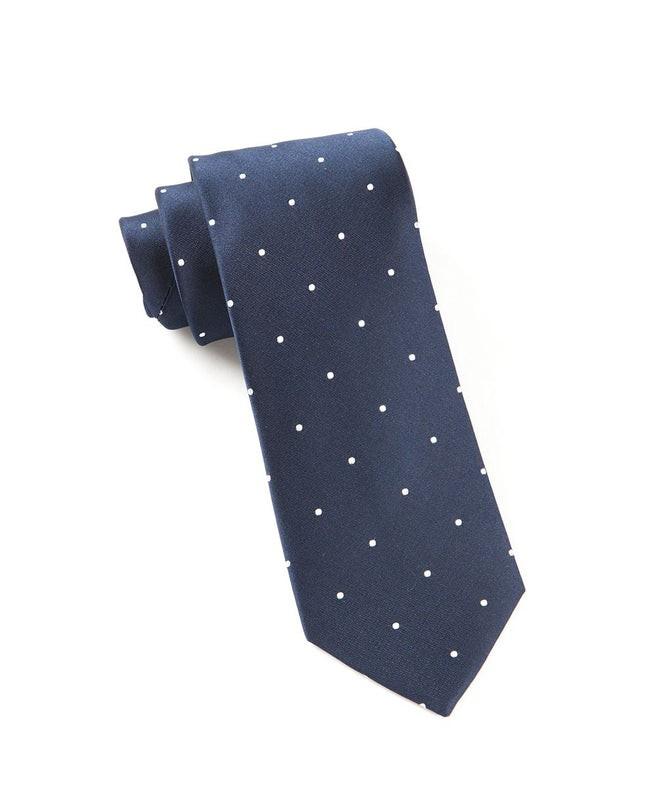 Satin Dot Classic Navy Tie