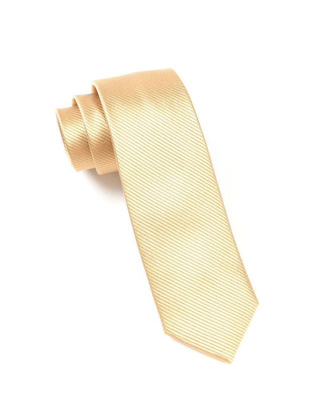 Skinny Solid Champagne Tie