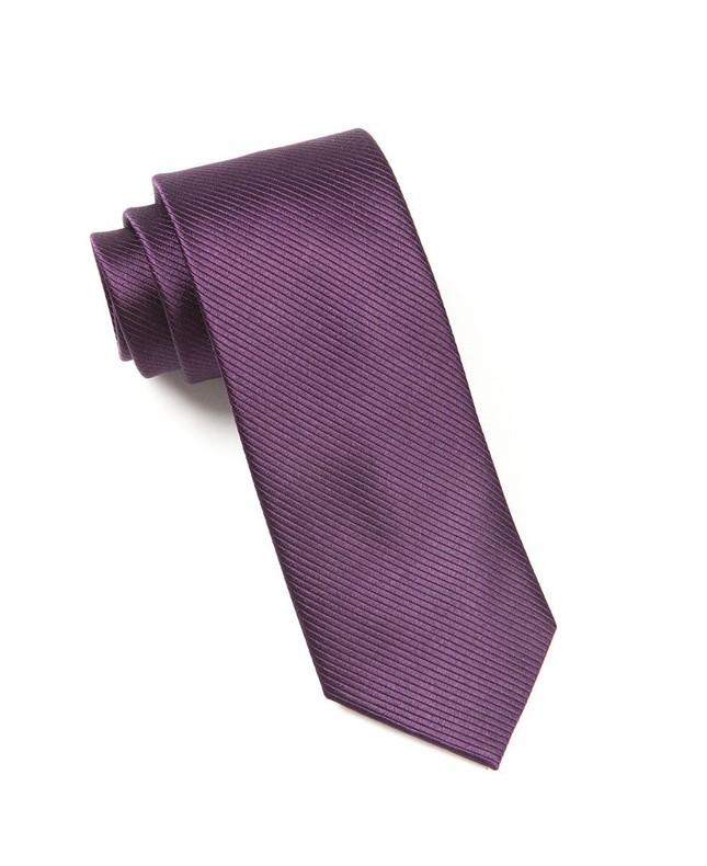 Skinny Solid Eggplant Tie
