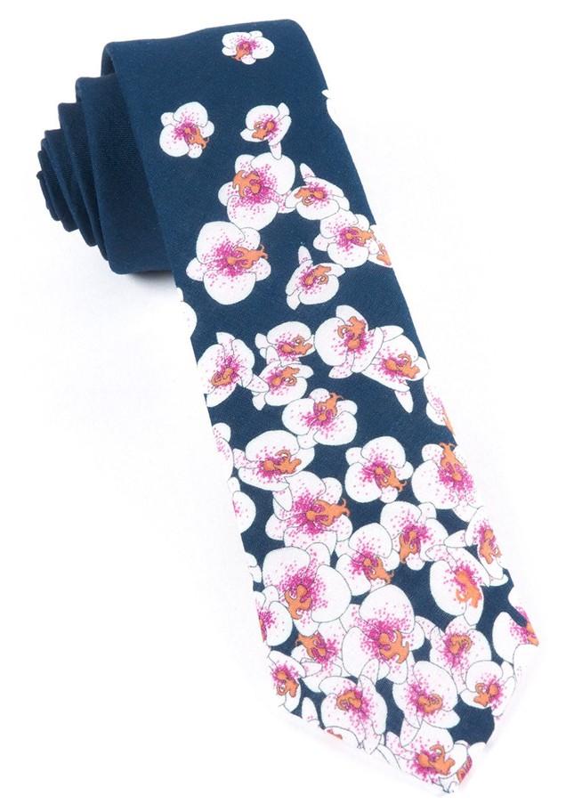 Luau Tumble Navy Tie