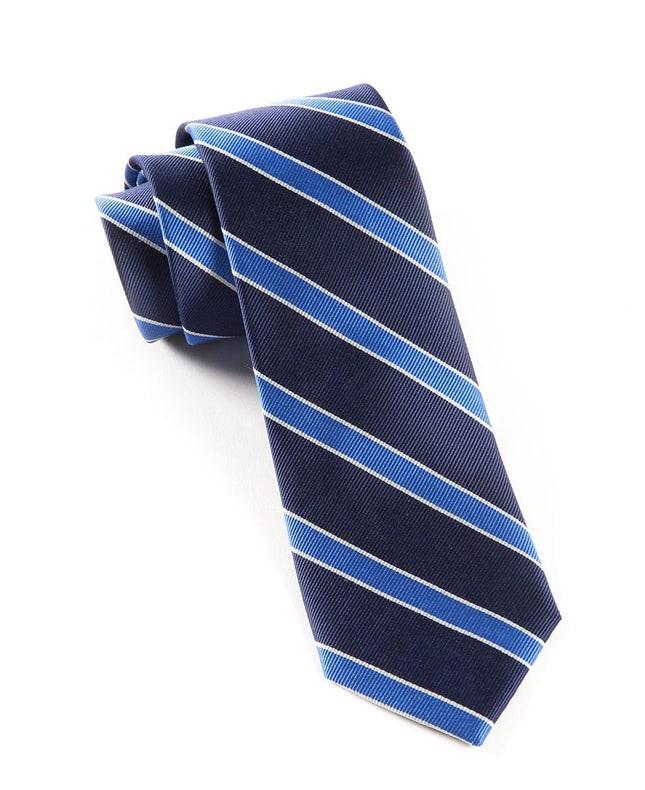 Honor Stripe True Navy Tie