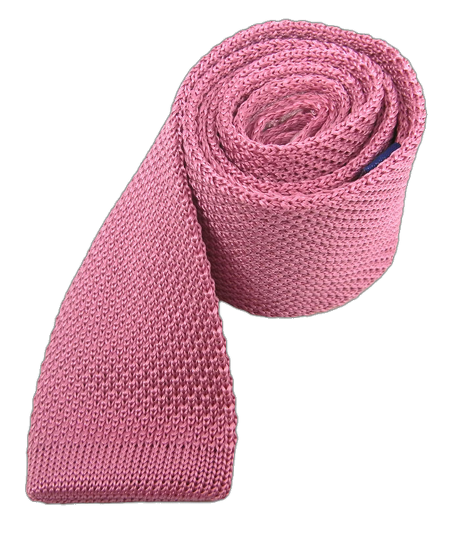 Knitted Pink Tie