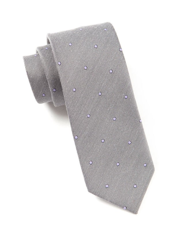 Wool Dots Charcoal Tie