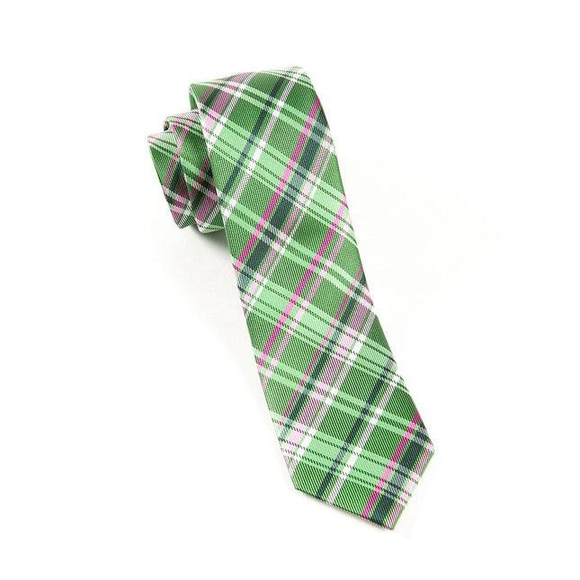 Plaiditude Kelly Green Tie
