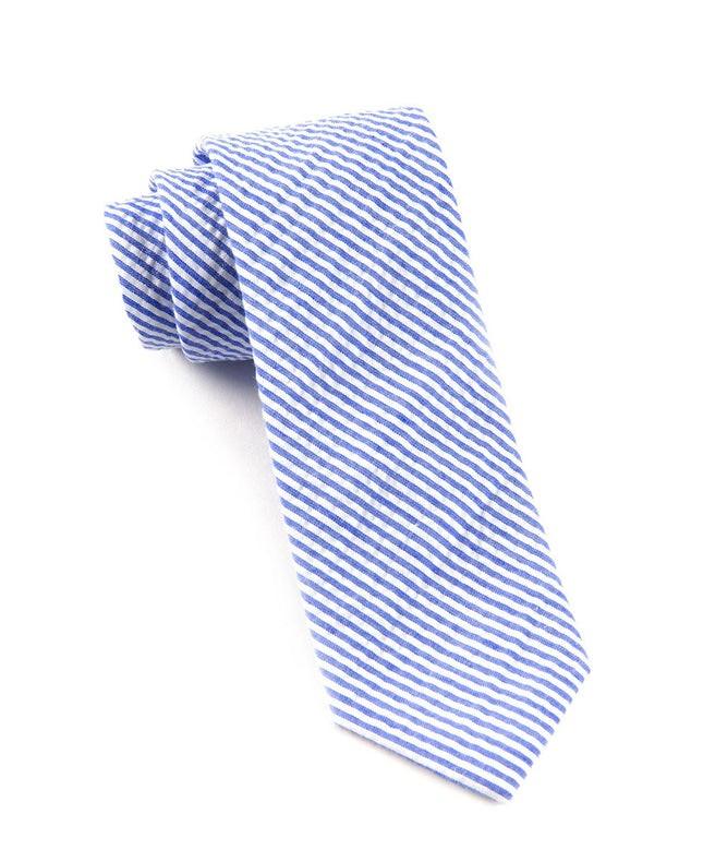 Seersucker Blue Tie