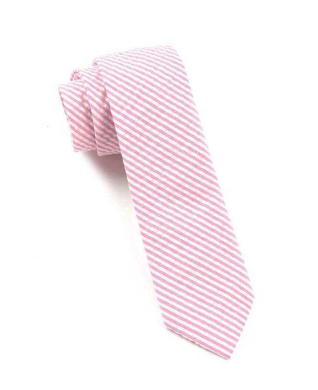 Seersucker Pink Tie