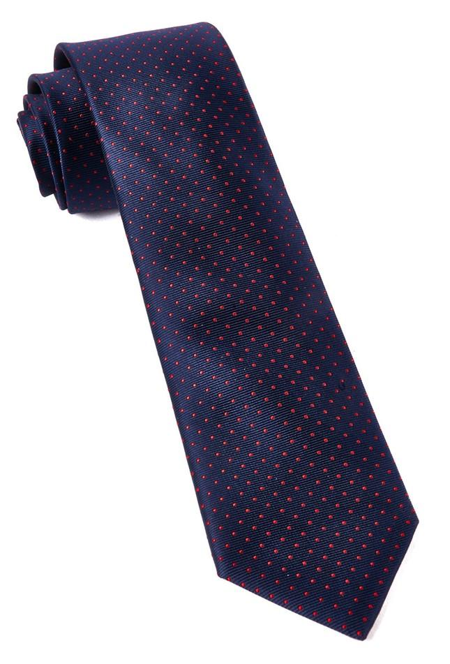 Mini Dots Matte Navy Tie