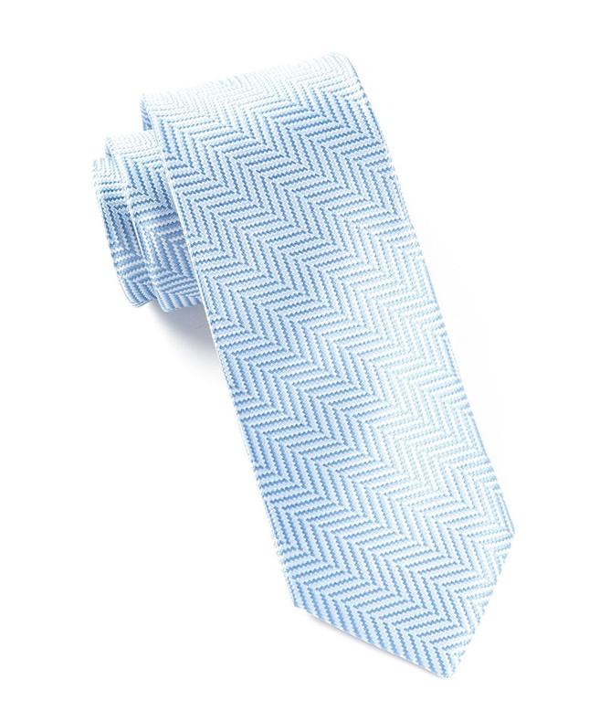 Native Herringbone Light Blue Tie