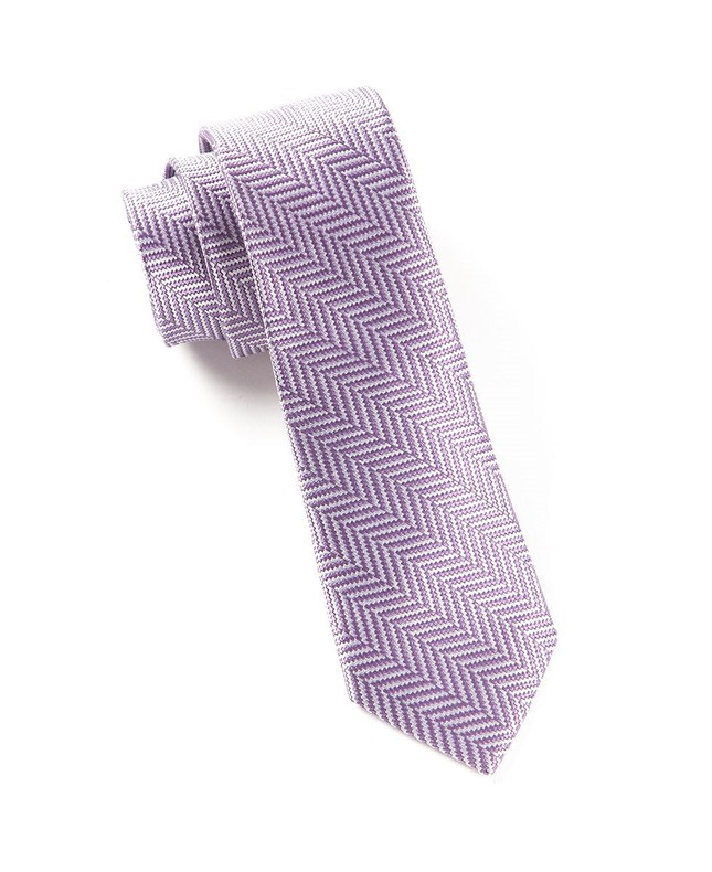 Native Herringbone Lavender Tie