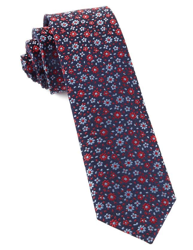 Milligan Flowers Navy Tie