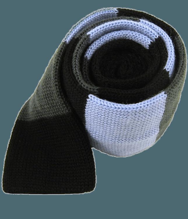 Knit Wool Master Stripe Sky Tie