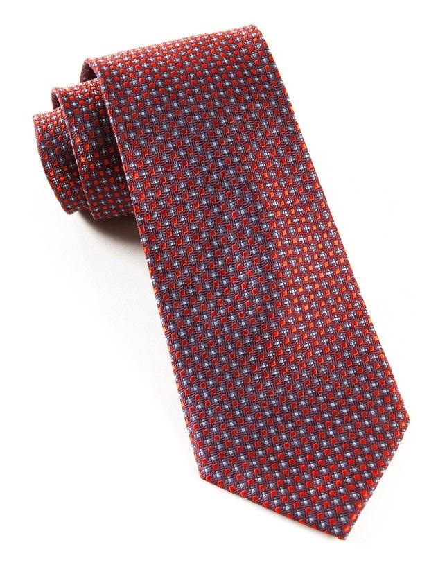 Micro Texture Burgundy Tie