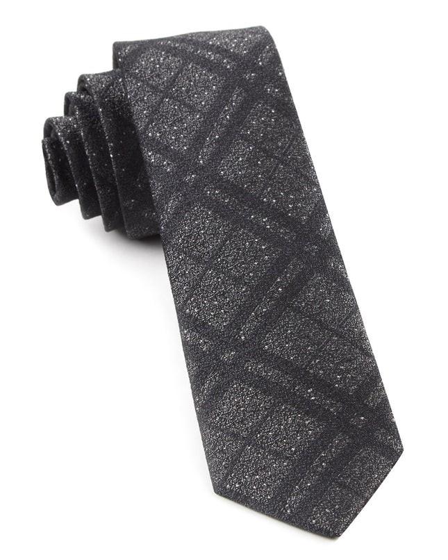 Snowfall Plaid By Dwyane Wade Grey Tie