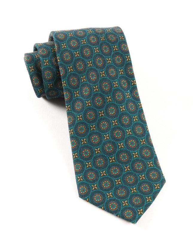 Era Medallions Green Teal Tie