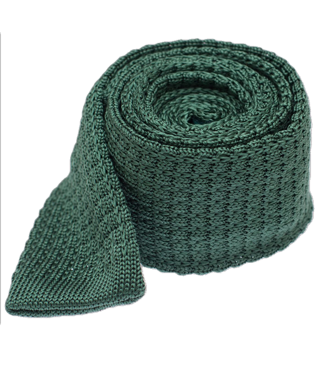 Textured Solid Knit Hunter Green Tie